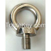 Stainless steel lifting eye screw / eye bolt