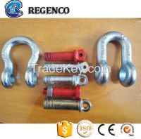 Rigging Hardware Us Type Carbon Steel Drop Forged Bow Shackle