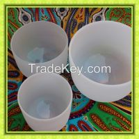 Frosted Quartz  Crystal Singing Bowls