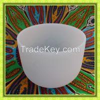 Frosted Quartz  Crystal Singing Bowls