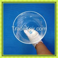 Clear handle crystal singing bowl for music