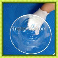clear chakra handle crystal singing bowl for healing