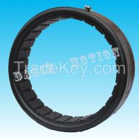 Ventilated inflatable air tube/bag on penuamtic clutch used for oilfield petroleum drilling machinery part