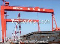 Double-trolley shipbuilding gantry crane