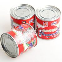 tinned tomato paste 400g,with brix 28-30%