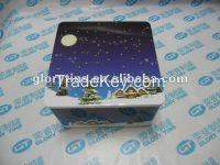 Christmas tin box, Christmas Gift, Rectangular Tin box for Christmas