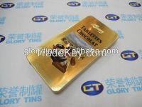 Chocolate Tin Box  Rectangular Tin Box