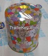 Pet's Dish Tin Can with lock