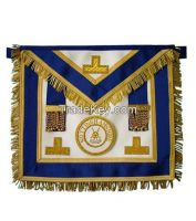 Masonic Grand Lodge Lambskin Apron with Embroidered Badges