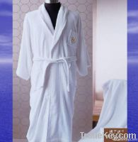 Bathrobe for hotel, Tuxedo style bath robe