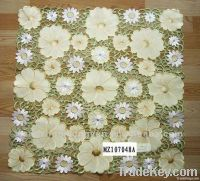 100% polyester stain flower table cloth