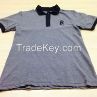 Custom made cotton fabric polo shirts