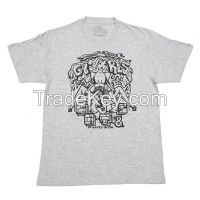 Custom made O neck cotton t-shirts, cotton t shirt with screen prinitng