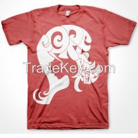 New design cotton t shirt with silk screen printing
