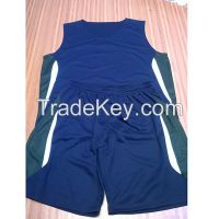 100% polyester dri fit fabric basketball uniform.