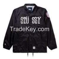 Custom made nylon fabric coach jackets