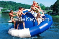 Inflatable water rocker outdoor game for adults and kids