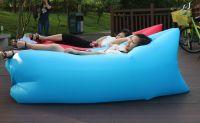 260cmx70cm Custom Inflatable Air Sofa Sleeping Bag Waterproof Pink Color