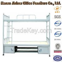 metal bunk bed, dormitory bunk bed