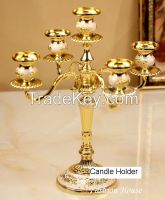 Aluminium Iron Brass Candle Holder