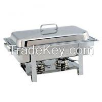 Brass, Aluminium, Steel With Glass, Chaffering Dish