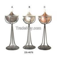 Aluminium, Brass, Iron, Steel, Garden Oil Lamp