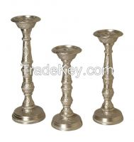 Aluminium, Brass, Iron, Steel, Candle and Pillar Holder
