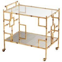 Iron Gold Bar Cart