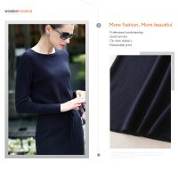 Hot sale ODM/OEM long sleeve slim fit side open women sweater dress