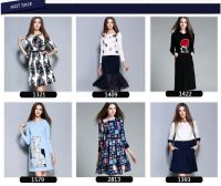 long sleeve fashion clothing women ladies wholesale office dresses