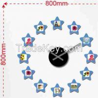 Fashion design wall clock with frame, modern design wall sticker clock for home decor