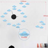 DIY sticker clock, fashion design butterfly sticker clock for home decoration