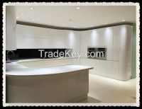 High gloss white lacquer kitchen cabinet modern kitchen designs