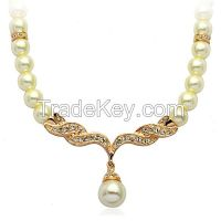 Yiwu Manufacturer Factory Outlet Delicate Bohemian Statement Beaded Pearl Jewelry Necklace,Wedding Pearl