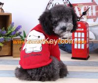New style red pet T-shirt with 100% cotton for small dog