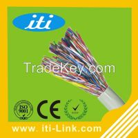 0.5mm/0.4mm copper shield indoor cat5 50 pair telephone cable