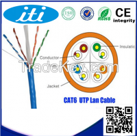 Lowest price Cat6 UTP cable indoor 305m CCA twisted pair LAN network cable for computer peripherals with best quality