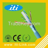 24AWG Cat6 FTP Network Cable with CE/ISO/ROHS Approved FTP CAT6 LAN Cable