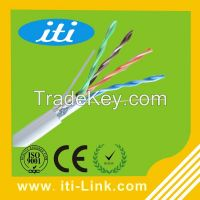 4 pair lan cable ftp cat5e with pvc insulator for network