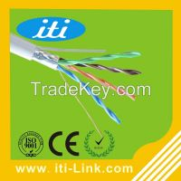 Telecommunication Lan cable 24AWG Solid Copper FTP CAT5E