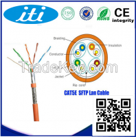 24awg sftp cat5e 4 pair sftp shielded cat5e lan cable