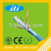 cabo de rede 23 AWG CCA Conductor Network Lan Cable FTP CAT6