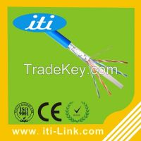 4 Pair 23 AWG FTP Cat6 Cable thickness 0.58mm cat6 cable
