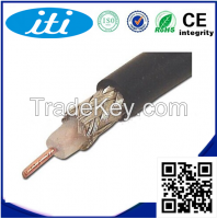 High quality FEP insulation smaller signal loss micro rg6 coaxial cable