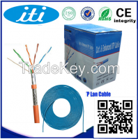 Twisted Pair Cable SFTP Copper Lan Cable Cat 5e SFTP OEM Available