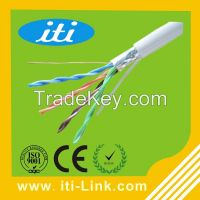 4 pairs twisted pvc insulated copper ftp cat5e lan cable