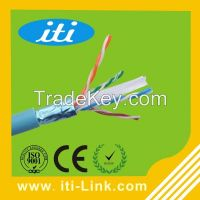 OEM brand 1000ft 4 pairs 0.58mm 23awg ftp brand cat6 cable