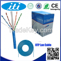 OEM cat6 utp cable 1000ft 4 pairs 0.58mm 23awg cat6 cable