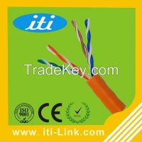100Mbps 4 pair 24awg copper utp cable CAT5e for office use