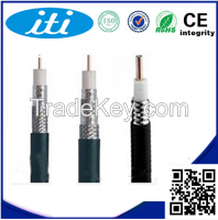 Rohs cctv copper core high quality rg6 coaxial cable manufacturer